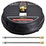 Twinkle Star 15' Pressure Washer Surface Cleaner with 2 Pressure Washer Extension Wand, 3100PSI