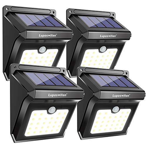 28 LEDs Solar Lights Outdoor, Luposwiten Solar Motion Sensor...