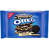 Oreo, BrookieO Brownie Original Cookie Dough Crème Sandwich Cookies Limited edition 13.2 oz, Chocolate, 1 Count