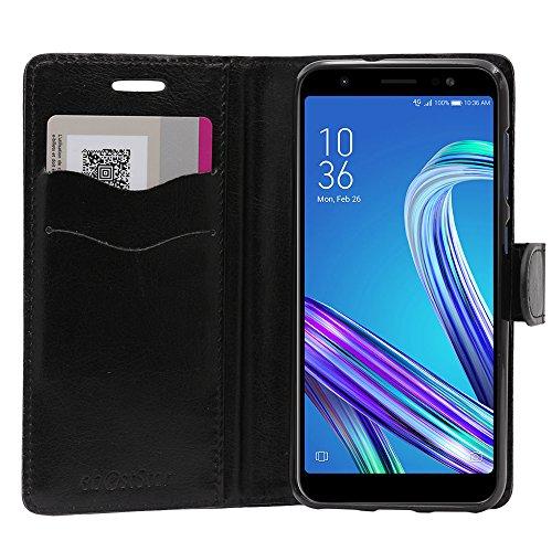 ebestStar - Cover Compatibile con ASUS Zenfone Max M1 ZB555KL Custodia Portafoglio Pelle PU Protezione Libro Flip, Nero [Apparecchio: 147.3 x 70.9 x 8.7mm, 5.5'']