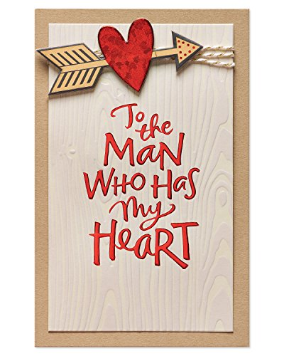 American Greetings Romantic Valentine's Day Card for Him (Man Who Has My Heart)