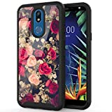 ANLI LG Solo LTE Case, LG K40 Case, LG Xpression Plus 2 Phone Case, LG Harmony 3 Case, Fashion Floral Design Drop Protection Armor Protective Case Cover for Girls and Women Rose Flowers