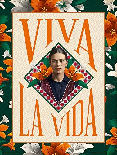 Grupo Erik Print Frida Kahlo Viva la Vida, Multicolor, 30x40 cm