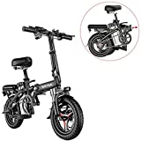 Folding Electric Bike 250W City Commuter Ebike 14 Inch Electric Bicycle with LCD Display Suitable for Adults and Teenagers with Assembly