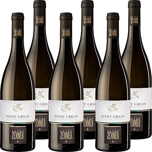 Pinot Grigio DOC | Peter Zemmer | Vino Bianco Alto Adige | Confezione 6 Bottiglie da 75 Cl | Idea Regalo