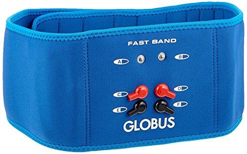 Globus G0487, Fast Band Addominali Glutei Schiena Fascia Cintura per elettrostimolatore Unisex Adulto, Azzurro, Pequeo