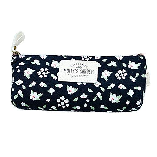 Hugestore Astuccio portamatite con disegno floreale in stile vintage da donna/ragazza per penne,...