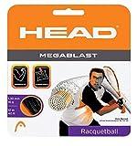 HEAD Megablast Racquetball String Set - 17g Racquet String, Black