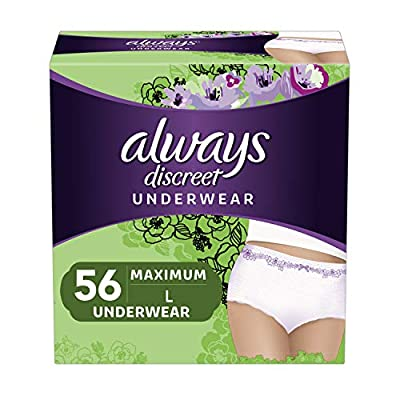 Absorbent incontinence underwear that always ship discreetly Super absorbent core turns liquid to gel, for dry protection RapidDry protection helps lock away your heaviest bladder leaks or overactive bladder 360° FormFit design fits close to your bod...