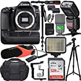 Canon EOS 80D DSLR Camera Body Only Kit with Pro Photo & Video Accessories Including 128GB Memory,...