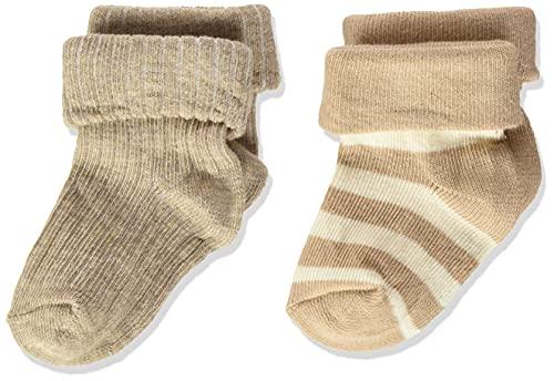 Noppies Baby U Socks Regensburg Calzini per Neonati, Bianco Sabbia P670, 3-6 Mesi Unisex-Bimbi