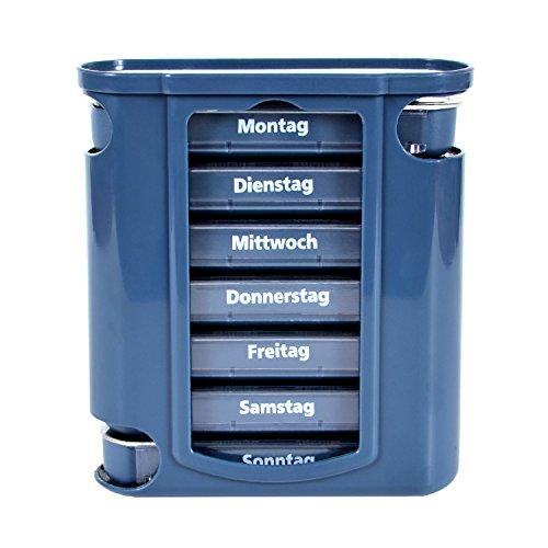 Pillendose 7 Tage, Pillenbox, Pillenturm, Medikamentenbox, Tablettenbox, Wochendispenser