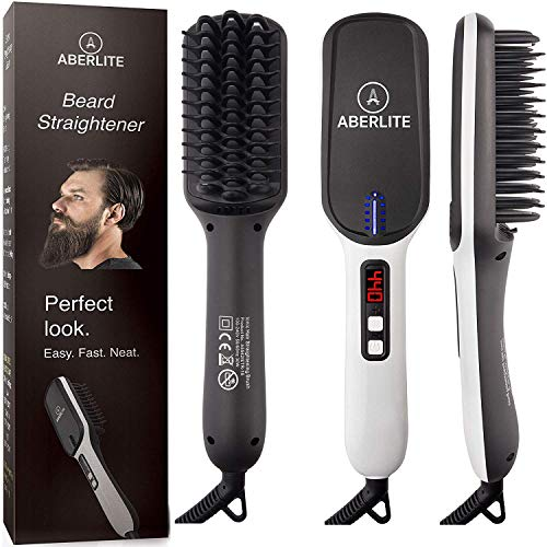 2. Aberlite MAX - Beard Straightener for Men