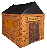 Pacific Play Tents 61804 Kids Hunt'n Cabin Tent Playhouse, 48' x 38' x 48', Brown