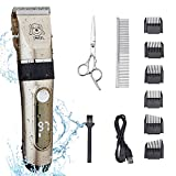 EVERYTHING YOU NEED IN ONE KIT - If you're looking for the complete grooming kit for your dog, cat or other furry friend, look no further!!! This kit has everything you need for trimming and full body clipping. WATERPROOF DESIGN - IPX4 water resistan...