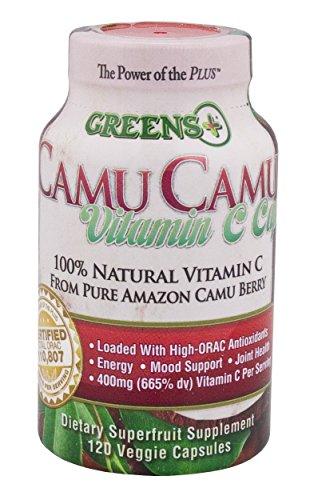 Green's Camu Camu Super diététique - fruits supplément de vitamine C naturelle Pure Amazon Camu Berry 120 Veggie Capsules