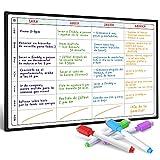 Pizarra Planificadora de Comidas y de Planes por SmartPanda - Calendario Magnético Grande Ideal...