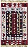 Demmex Traditional Bohemian Turkish Area Rug Kilim, Washable, Double Sided (2 x 3 ft, Multicolor1)