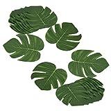 Delsen Lot de 24 feuilles tropicales artificielles de 20,3 cm pour fête sur le...