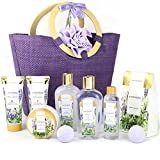 Spa Luxetique Spa Gift Baskets for Women, Lavender Bath Gift Basket,...