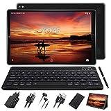 Tablet 10 Pulgadas Full HD Android 9.0 con Ranuras para Tarjetas SIM Dobles Procesador de Cuatro Núcleos, 3G + 32GB, Doble Cámara Dobles SIM Tablet Type-C Tablets,WI-FI,GPS,Bluetooth,Musica,Radio