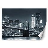 Feeby Papier Peint Intisse New York City Manhattan 300x210 cm noir et blanc...