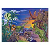 Melissa & Doug Land of Dinosaurs Jigsaw Puzzle (Wipe-Clean Surface, 60 Pieces, 10.9' H x 7.4' W x 1.8' L, Great Gift for Girls and Boys - Best for 6, 7, 8 Year Olds and Up)