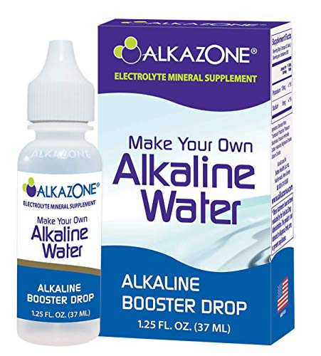 Alkazone Make Your Own Alkaline Water | Alkaline Booster Drop | 1 Pack Makes 20 Gallons | 200 Servings | Tasteless Flavorless | Good for The Environment, Clear, 1.25 Fl Oz (Pack of 1)