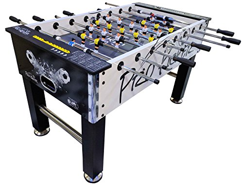 PLAY CITY Foosball Soccer Table Pro Kickr (Black and White)