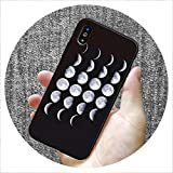 Fashion Pattern Silicone case for iPhone 7 6 6S 8 Plus X 5 S 5S SE XS Max XR Matte Phone Set Star Moon Mobile Phone case,5,for iPhone XR