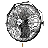 Maxx Air Wall Mount Fan, Commercial Grade for Garage, Shop, Easy Operation and Powerful CFM (18' Residential Wall Mount)