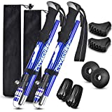 Trekking Poles Collapsible Hiking Poles - Aluminum Alloy 7075 Trekking Sticks with Quick Lock System, Telescopic, Collapsible, Ultralight for Hiking, Camping