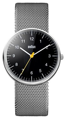 Braun Mens Analogue Classic Quartz Watch with Stainless Steel Strap BN0021BKSLMHG