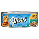 9Lives Tender Morsels With Real Turkey & Giblets In Sauce Wet Cat Food, 5.5Oz Cans (Pack Of 24)
