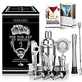 PADIAFEL Shaker à Cocktail, Shaker Cocktail Professionnel 12 Pièces, Kit...