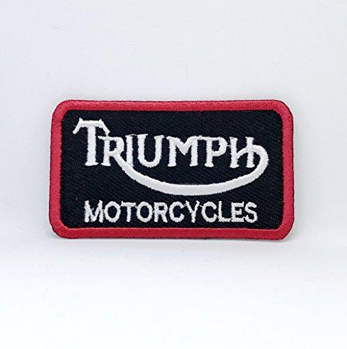 Parche bordado para coser o planchar motocicletas Triumph