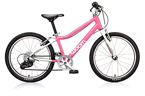 """woom 4 Pedal Bike 20"""", 8-Speed, Ages 6 to 8 Years, Pink"""