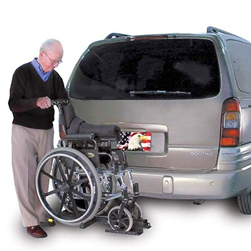 Harmar Mobility Upgraded AL003 Wheelchair Lift Outside Manual Carrier with Hitch Adapter