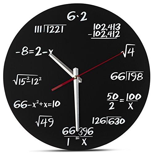 Decodyne Math Wall Clock - Unique Wall Clock - Each Hour...