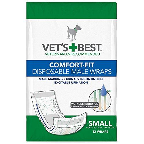 Vet's Best Comfort Fit Disposable Male Dog...