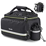 WESTLIGHT Bike Bag Rack Rear,20-35L Large Capacity Bike Trunk Bag Panniers Waterproof,Durable Bicycle Backpack Rack,Pannier Bags for Motorcycles Mountain Bike Road Bike MTB BMX,Portable Bicycle Bag