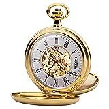 Regent P 37K - Reloj de bolsillo para hombre (mecanismo de esqueleto, con cadena...