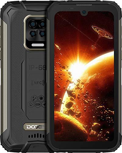 Telephone Portable Incassable, DOOGEE S59 Pro(2021) Smartphone Débloqué 4G, 10050mAh, 5,71 Pouces, Grand Haut-Parleur 2W, 4 Go + 128 Go, Android 10, Quad Caméra 16MP, Antichoc/Étanche/NFC- Noir