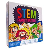 STEM Family Battle - A Family Board Game for Kids and Adults - Balanced Trivia Party Game for Your Family Game Night and Parties - Educational and Fun!