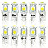 BeiLan 10PCS T10 LED Ampoules de Voiture, Lampe W5W 194 168 501 2825 6000K...