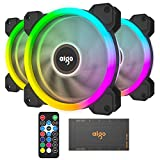 Vetroo DR12 3IN1 120mm Case Fans RGB LED Adjustable Color Quiet High Airflow Long Using Life Computer Case PC Cooling Fan for Computer case CPU Cooler and Radiator