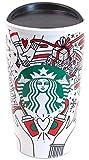 Starbucks 2017 Holiday Traveler Ceramic Red Cup (11078286) 12 Oz