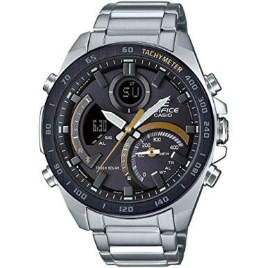 Casio Men's Tough Solar Edifice Smartphone Link Bluetooth Stainless Steel Watch ECB-900DB-1CCR
