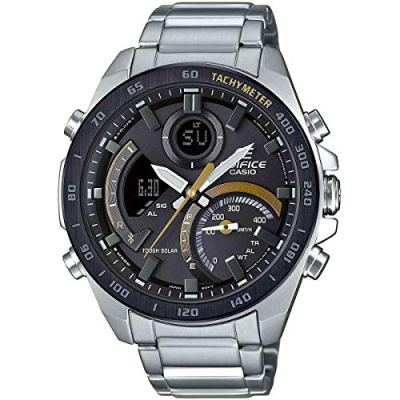 Casio Men's Tough Solar Edifice Smartphone Link Bluetooth Stainless Steel Watch ECB-900DB-1CCR