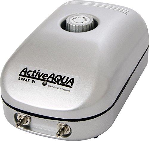 Hydrofarm Active Aqua Air Pump, 2 Outlets, 3W, 7.8 L/min